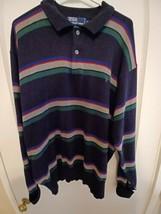 VTG Polo Ralph Lauren Striped Cuff Sweater XL LS - $39.55