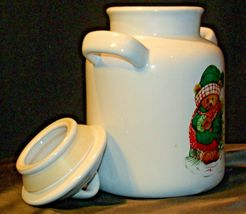 Christmas Double Handle Ceramic Cookie Jar w Lid Item # 252 1P1 AA-191963  Colle image 5