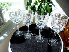 "Set of 4 Cris D'Arques Provence Pattern Crystal Water Glasses 7 5/8"" Tall - $41.57"