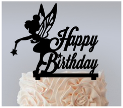 Ca215 Birthday Cake topper,Cupcake topper,silhouette tinkerbell Package ... - $20.00