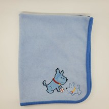 Carters Child Of Mine Puppy Blue Baby Blanket Baseball Dogs Ball Blue B350 - $19.99