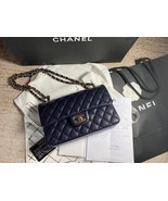 AUTH BNW CHANEL 2019 NAVY CAVIAR QUILTED SMALL DOUBLE FLAP BAG GHW RECEIPT - $5,499.99