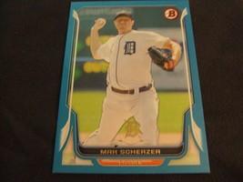 2014 Bowman Blue #94 Max Scherzer #'d 165/500 -Detroit Tigers- - $3.12