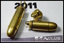 EDC Outdoor Brass Lighter Mini Kerosene Pipe Cigarette Lighter with Keyc... - $19.96