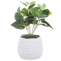 5.5 Inch White Ceramic Wavy Design Plant Flower Planter Container Pot/De... - $19.21