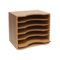 Lipper International Bamboo Desk Office Home File Sorter Organizer w/ 5 ... - $48.99