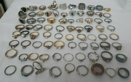 BIG Lot of 80 Vintage Estate Rings for PARTS, REPAIR, SALVAGE, RESTORE - $142.45
