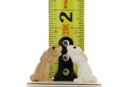 Hagen Renaker Rabbit Honey Bunny Brown & White Ceramic Figurine Set image 2
