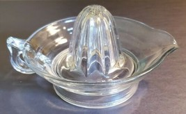Vintage Retro Clear Glass Hand Citrus Juicer With Handle And Pour Spout - $6.04