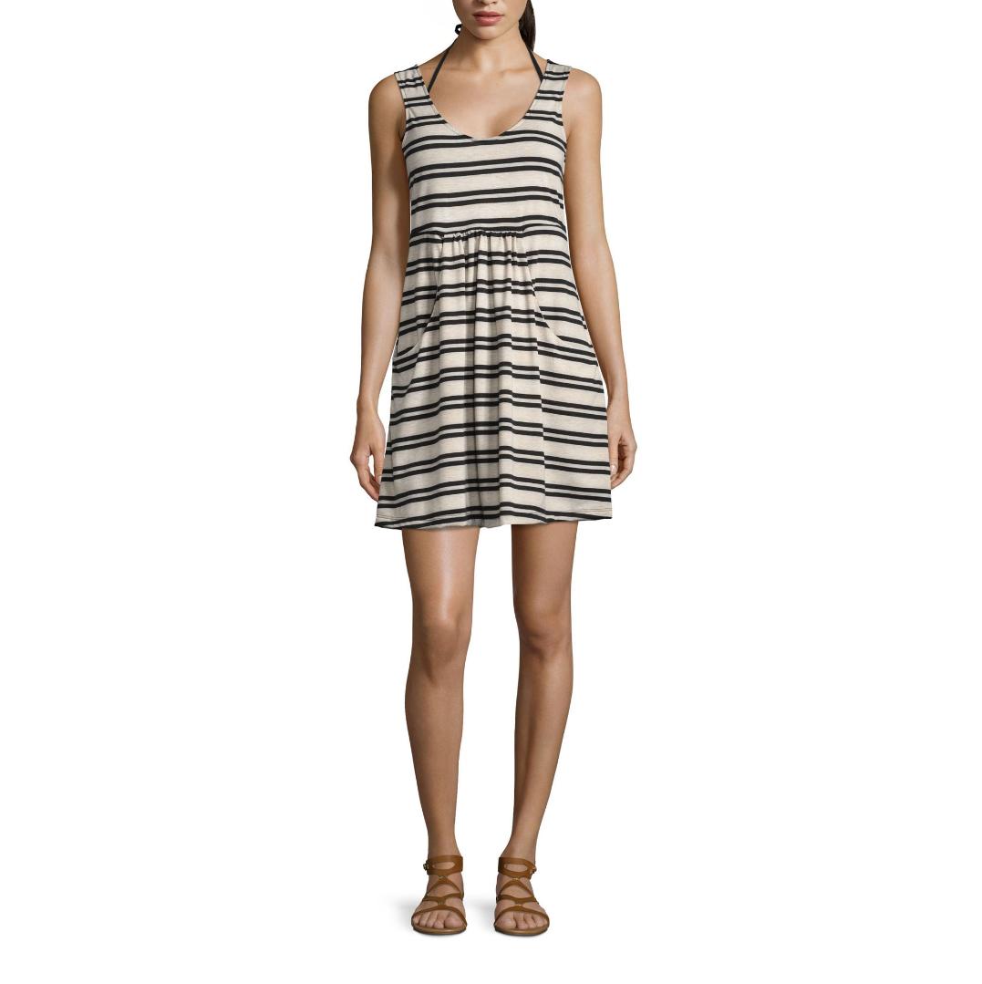Primary image for Porto Cruz Stripe Jersey Swimsuit Cover-Up Dress Size M Msrp $42.00 New