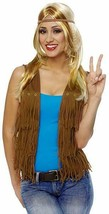 Costume Culture Hippie Fringe Vest 60s Adult Halloween Costume Accessory... - $14.59