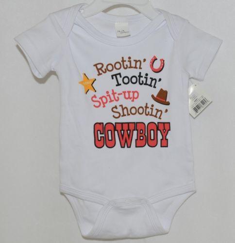 Ganz Ella Jackson CA50659 White Star Cowboy Hat Diaper Shirt