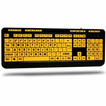 EasyTouch 132 Luminous 4X Large Print Multimedia Desktop Keyboard NEW - $28.54