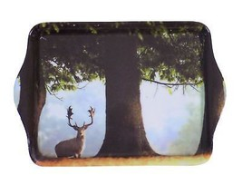 Stag Under Large Tree Countryside Trinket Tray 21CM X 14CM - $9.58
