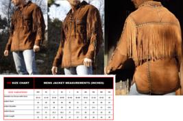Men New Native American Mountain Man Brown Rendezvous Western Fringe Shirt FS113 - $117.00