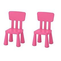 Ikea Mammut Kids Indoor / Outdoor Children's Chair, Pink Color - 2 Pack - $86.17