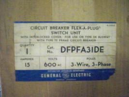 """Ge DFPFA31DE 15A 3PH 3W 600V """"Tf"""" Breaker Type De Busplug New Surplus - $800.00"""