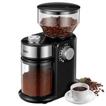Burr Coffee Grinder, Large Hopper Electric Burr Mill with 18 Grinding Op... - $97.99