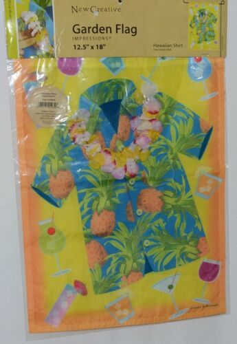 New Creative 24032 Hawaiian Shirt 3D Lei Accents Garden Flag