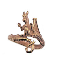 18k Rose Gold Plated Sterling Silver 925 Fierce Dragon Wrap TAIL Ring Je... - $34.02