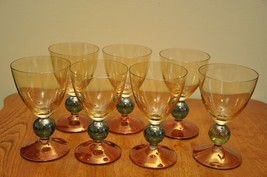 Poland Crafted Multi Colored Blown Wine Glasses By Krosno - $44.55