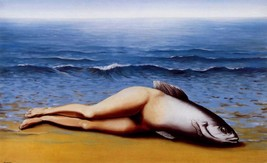 """Rene Magritte """"Collective Invention"""" HD print on canvas wall picture 48x28"""" - $29.69"""