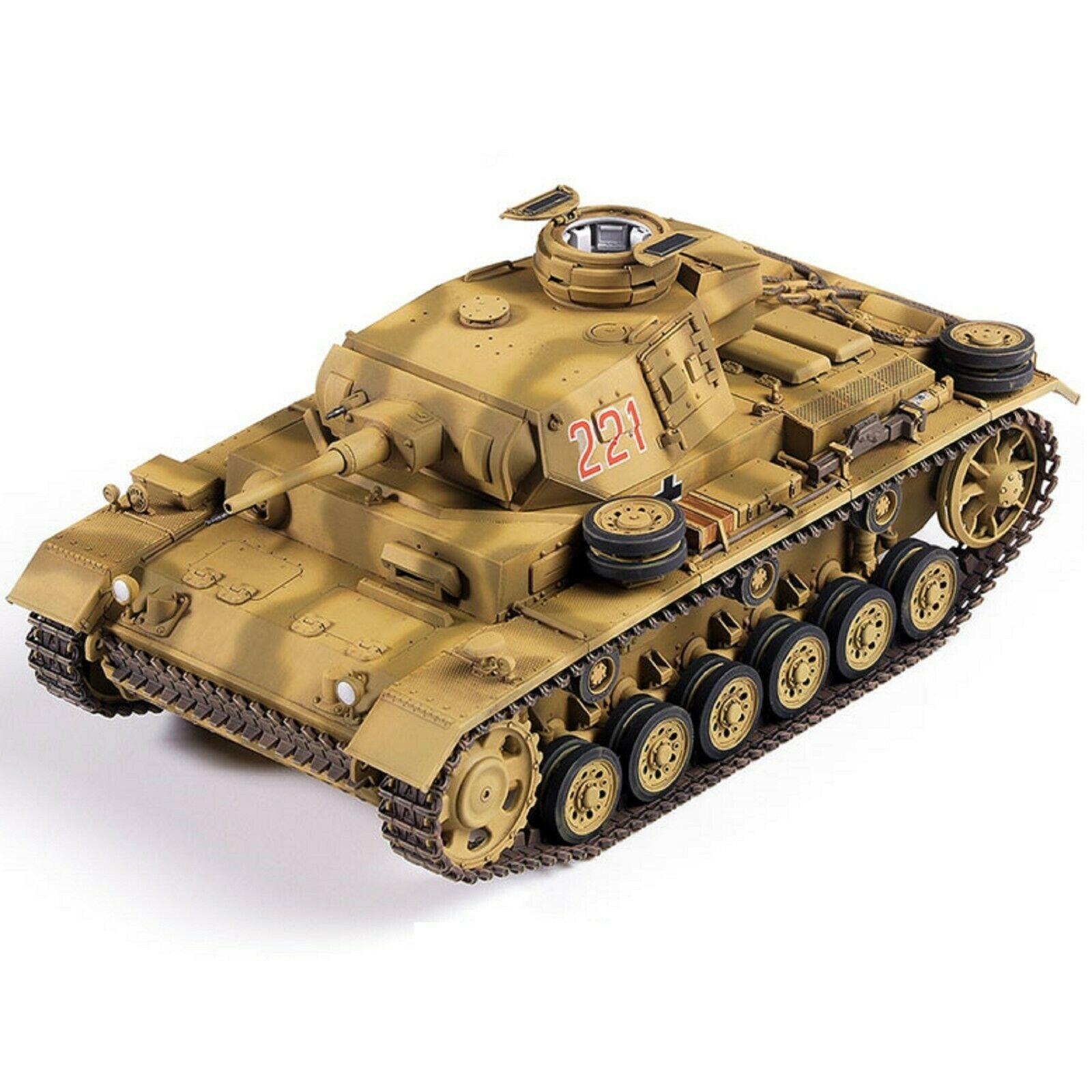 Academy 13531 German Panzer III Ausf.J North Africa Tank Plastic Hobby Model Kit