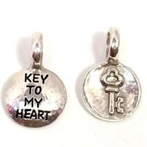 """Brighton Token """"Key"""" Charm, JC0100, Silver Finish, New - $8.96"""