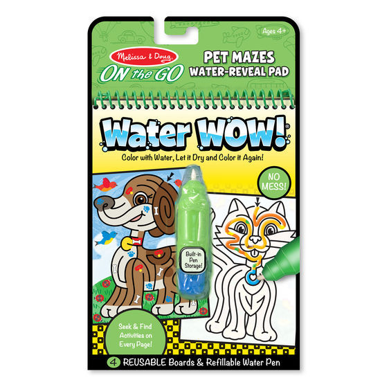Primary image for Melissa & Doug On the Go Water Wow Pet Mazes Activity Pad