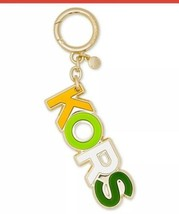 Michael kors raised charm logo multicolor gold tone New - $28.49