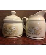 Royal Doulton Florinda Milk Jug Creamer and Sugar Bowl Lambethware 1980s... - $27.71