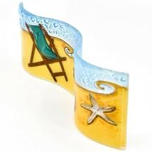 Fused Art Glass Beach Summer Waves Wavy Sun Catcher Handmade in Ecuador image 2