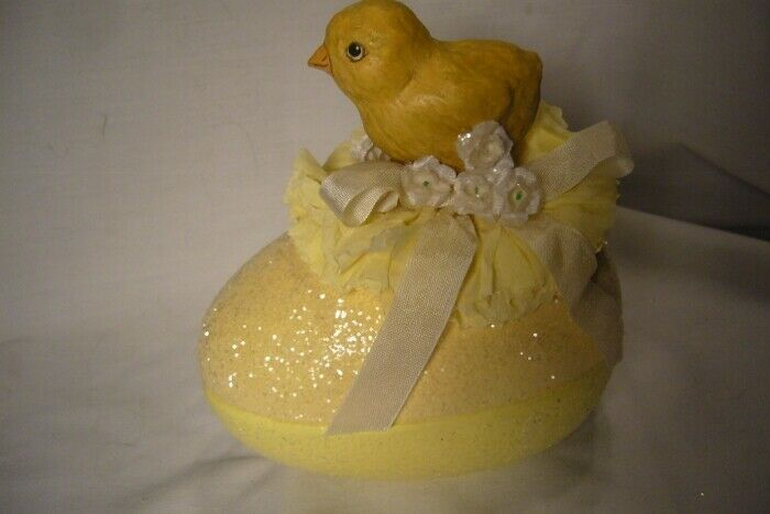 Bethany Lowe Chick on Egg Candy Container