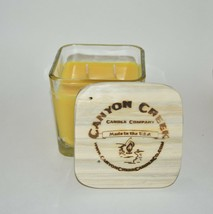 NEW Canyon Creek Candle Company 14oz Cube jar SUNFLOWER Handmade! - $29.94