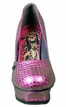 Iron Fist Women's Pink Studs Number of the Beast High Heels Platform Shoes NIB image 3