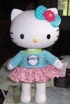 "Hello Kitty Doll 13"" Tall Hard Plastic Posable By Sanrio With Dress - $9.49"