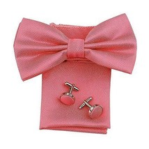 DBC3001 Crimson Checkered Collection Microfiber Pre-Tied Bow Tie Hanky ... - $19.11