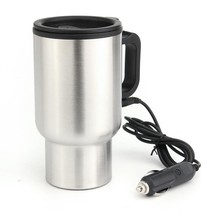 Travel Heated Cups Car 12V 450ML Stainless Steel Based Heating Mug Water... - $17.99