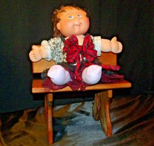 Cabbage Patch Doll sitting at a Large Wooden School Desk AA-191964  Collectible image 3