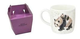 4X en Caja wrendale con Licencia Oficial Panda y Cachorro Fino Porcelana... - $54.52