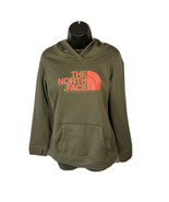 THE NORTH FACE Pullover Hoodie Cotton Sweatshirt Army Green W/ Pink Wome... - $17.59
