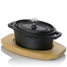 Gibson Home Campton 0.35 Quart Mini Oval Cast Iron Casserole Dutch Oven ... - $31.93