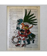 Choose An Aztec God Dictionary Art Print - $11.00