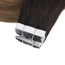Easyouth 14inch Adhesive Tape in Hair Extensions Balayage Color 2 Dark Brown Fad image 6