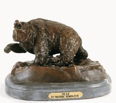 Artistic Solutions Bear Statue 100% Bronze Handmde Sculpture Inspired By Frederi - $529.20