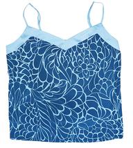 Alfani Intimates Women's Satin-Trim Pajama Tank Top in Linear Feathers, XXL - $20.78
