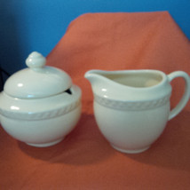 GAIL PITTMAN SOUTHERN LIVING AT HOME HOSPITALITY IVORY CREAM & SUGAR SET... - $18.12