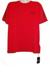 Emporio Armani EA7 RED Logo Graphic Design Cotton Men's T-Shirt Sz 3XL  NEW - $69.29