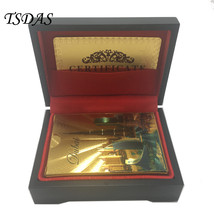 Gold Foil Poker Cards 24K Gold-Foil Plated With Dubai Style Plastic Play... - $15.00