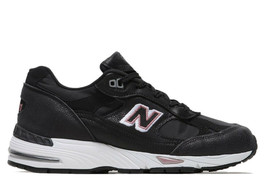 New Balance 991 BLACK/PINK Trainers Sneakers Women Shoes Made In England W991BKP - $176.43